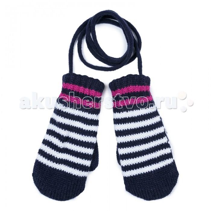 где купить Варежки, перчатки и шарфы Playtoday Варежки трикотажные для девочек Клюквенный десерт 372179 дешево