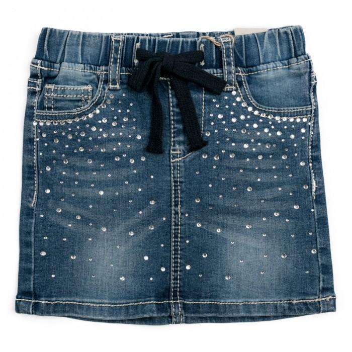 Юбки Playtoday Юбка текстильная джинсовая для девочек Утро в Париже 182060 аксессуары playtoday заколка для волос для девочек 4 шт утро в париже 182737