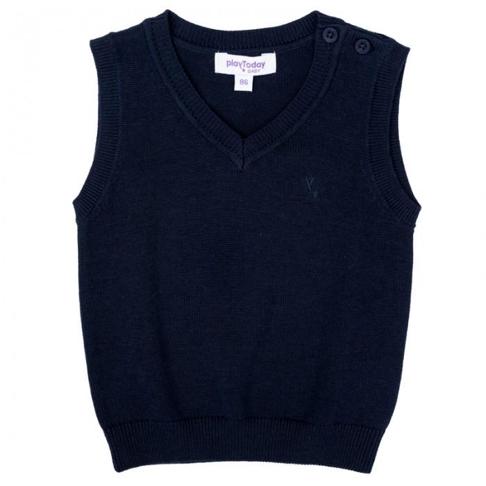 Пиджаки, жакеты, жилетки Playtoday Жилет детский трикотажный для мальчиков Веселый алфавит 377010