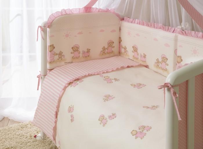 Комплект в кроватку Perina Тиффани (7 предметов)Тиффани (7 предметов)Комплект в кроватку Perina Тиффани (7 предметов) имеет свой неповторимый стиль, обладает уникальной внутренней атмосферой.  Для окраски тканей используется технология реактивной печати, которая обеспечивает высокую четкость рисунка и длительную стойкость цветов. Обладает антиаллергенными свойствами.   Бампер сделан из 4-х частей со съемным чехлом, простынь на резинке идеально облегает матрас, балдахин шириной 4,5 метра полностью укрывает кроватку. Постельное белье Тиффани - эксклюзивный выбор для тех, кто понимает, что значит стиль и изысканность.   В комплекте:  Простыня на резинке 105х170 см Наволочка 40х60 см Подушка 40х60 см  Пододеяльник на молнии 102х143 см  Одеяло 100х140 см Бампер из 4 частей с чехлом 38х360 см Балдахин 165х450 см<br>