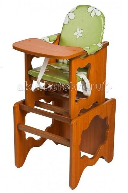 Стульчик для кормления ПМДК ПремьерПремьерСтульчик для кормления ПМДК Премьер   Удобный и функциональный стульчик для кормления.  Особенности: Легко трансформируется в столик и стул для малыша. Для создания высокого стульчика для кормления вам нужно установить малый стул на столик. Стульчик устойчив и не опрокидывается. Края сглажены и безопасны для ребенка. 3-точечные ремни безопасности. Материал: стульчик - массив березы, стол и столешница - из толстого ламината. Размер посадочного места (см): шхд 36х48. Высота от пола 52 см. Вес с упаковкой: 8 кг. Рекомендована для детей от 6 месяцев до 2 лет.<br>