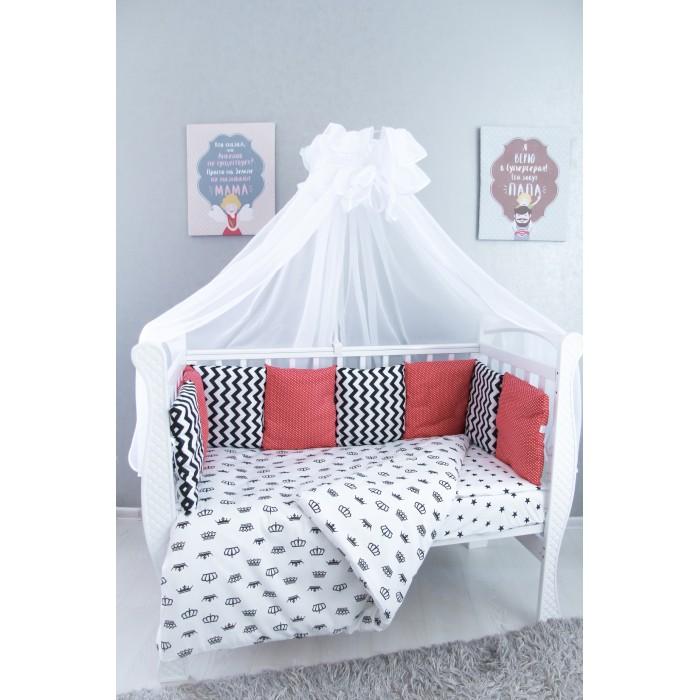 Комплект в кроватку Подушкино Корона (6 предметов)