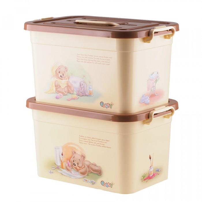 Ящики для игрушек Полимербыт Ящик для игрушек Polly 10 л ящик для игрушек полимербыт как приручить дракона 71747 16 л 37х26х20 7 см