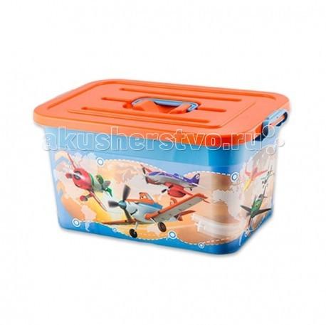 Ящики для игрушек Полимербыт Ящик для игрушек 15 л Disney наборы для рисования ravensburger раскрашивание по номерам кролик в ромашках размер картинки