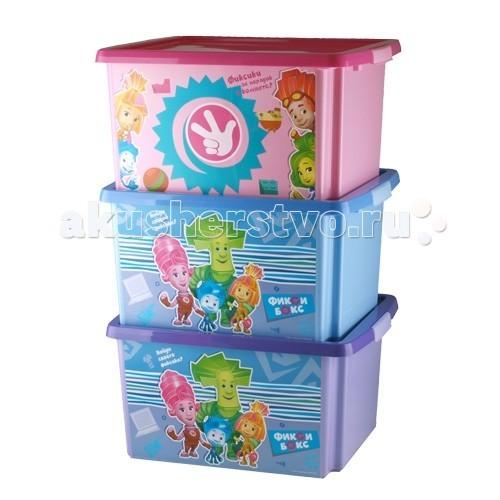 Ящики для игрушек Полимербыт Ящик для игрушек 30л Фиксики