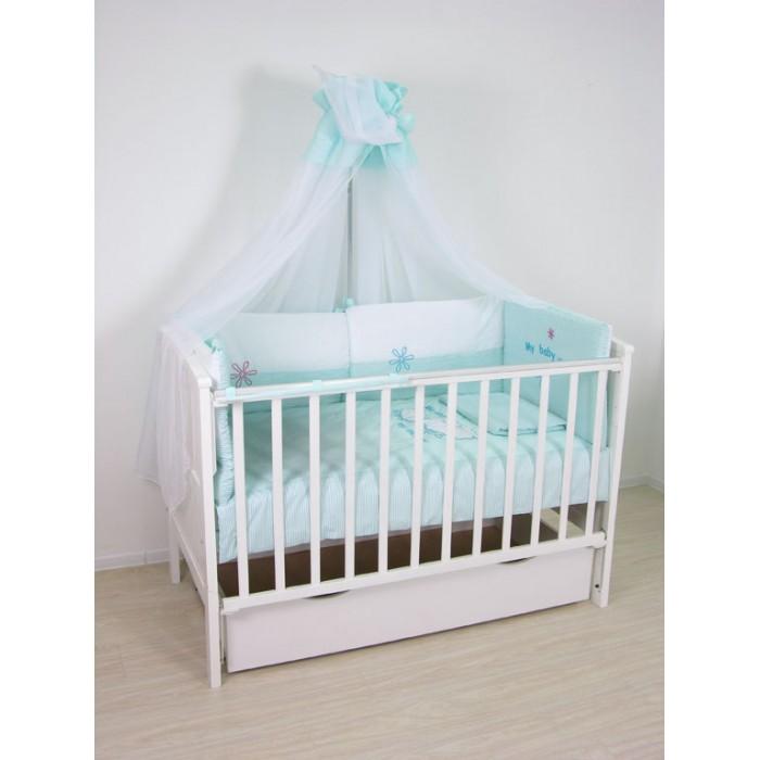 Купить Комплекты в кроватку, Комплект в кроватку Polini kids Белые кудряшки (7 предметов)