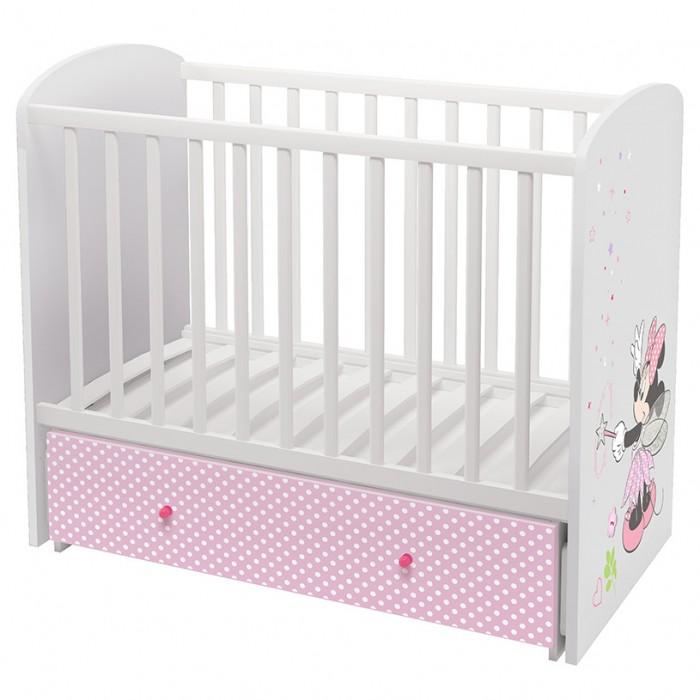 Купить Детские кроватки, Детская кроватка Polini Disney 750 Минни Маус-Фея поперечный маятник 120х60 см
