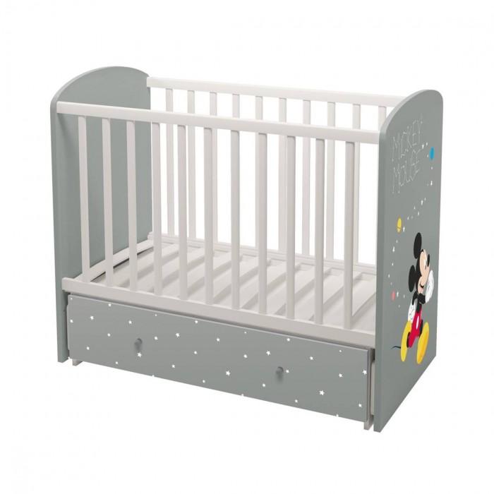 Детская мебель , Детские кроватки Polini Disney Baby 750 Микки Маус арт: 496756 -  Детские кроватки
