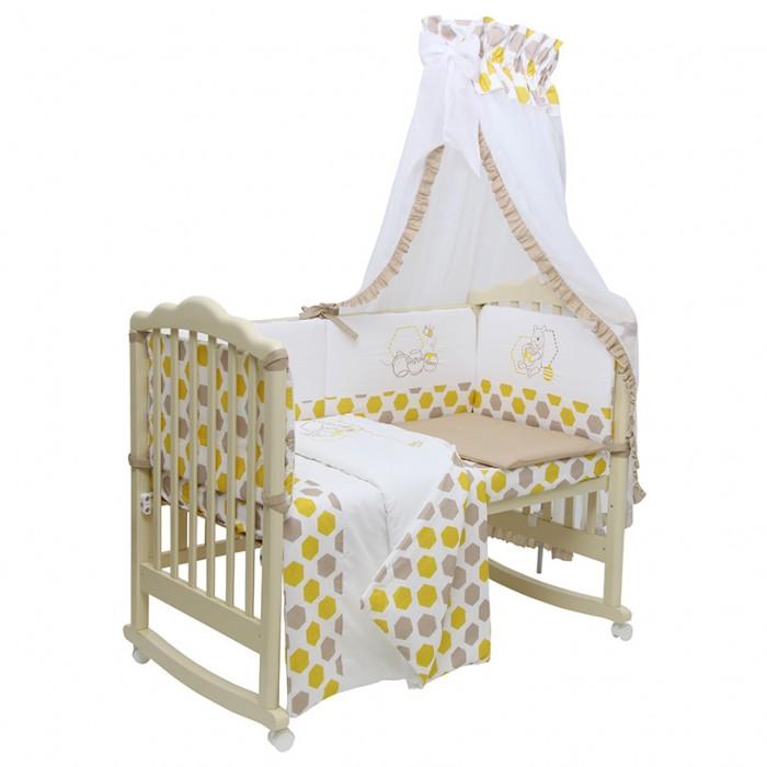 Купить Комплекты в кроватку, Комплект в кроватку Polini Disney baby Медвежонок Винни и его друзья (7 предметов)
