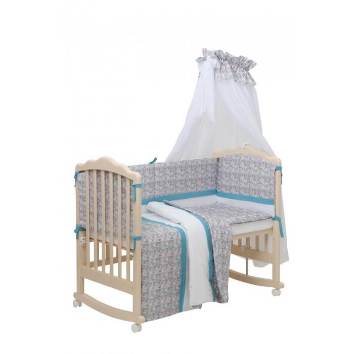 Комплект в кроватку Polini Disney Последний богатырь принцесса (7 предметов)