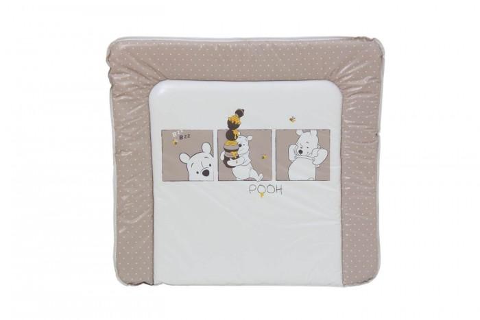 Накладки для пеленания Polini Доска пеленальная Disney baby Медвежонок Винни и его друзья 77х72 см доска пеленальная поворотная micuna cp 1199 plus 2 white beige bears
