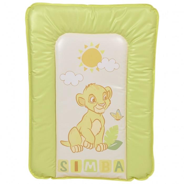 Накладки для пеленания Polini Kids Доска пеленальная мягкая Disney baby Король Лев 70х50 см