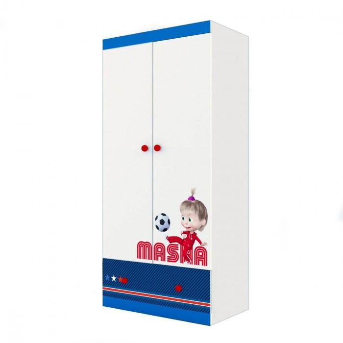 Шкаф Polini двухсекционный Kids Fun 890 Маша и Медведь