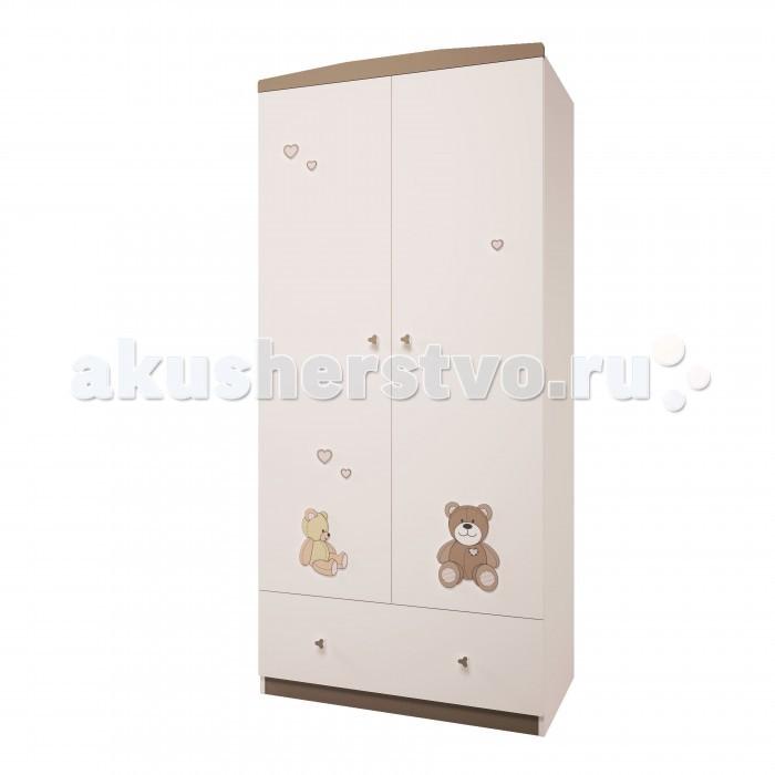 Шкафы Polini Двухсекционный с ящиком Плюшевые мишки 1991