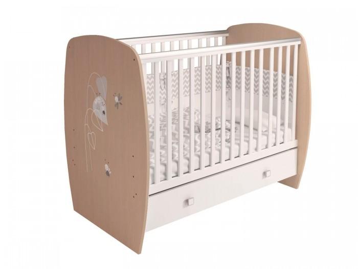 Детская мебель , Детские кроватки Polini French 710 Amis (ящик) арт: 494206 -  Детские кроватки