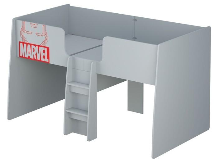 Подростковая кровать Polini kids Чердак Marvel 4105 Железный человек