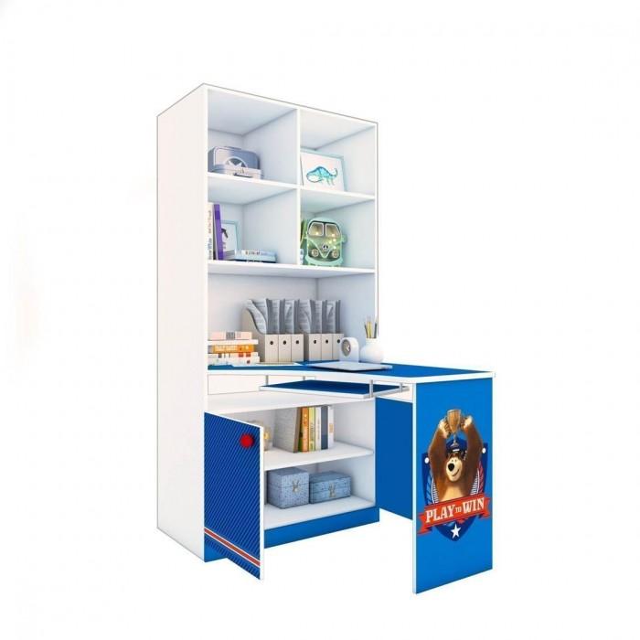 Купить Шкафы, Шкаф Polini kids Стеллаж двухсекционный Fun 1230 Маша и Медведь со столом