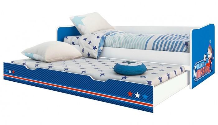 Подростковая кровать Polini kids Fun 4200 выдвижная Маша и Медведь