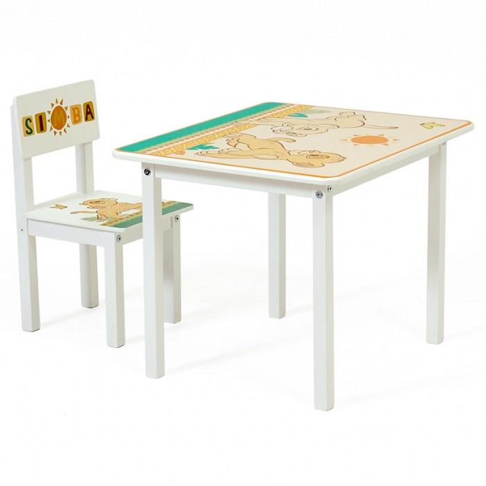 Детские столы и стулья Polini kids Комплект детской мебели Disney baby 105 S Король Лев