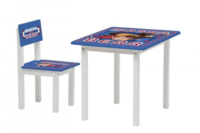 Детские столы и стулья Polini kids Комплект детской мебели Fun 105 S Маша и Медведь конфитрейд маша и медведь печенье грибочки с подарочком 42 г