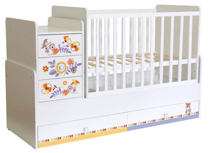Кроватка-трансформер Polini kids Simple 1100 Прогулка
