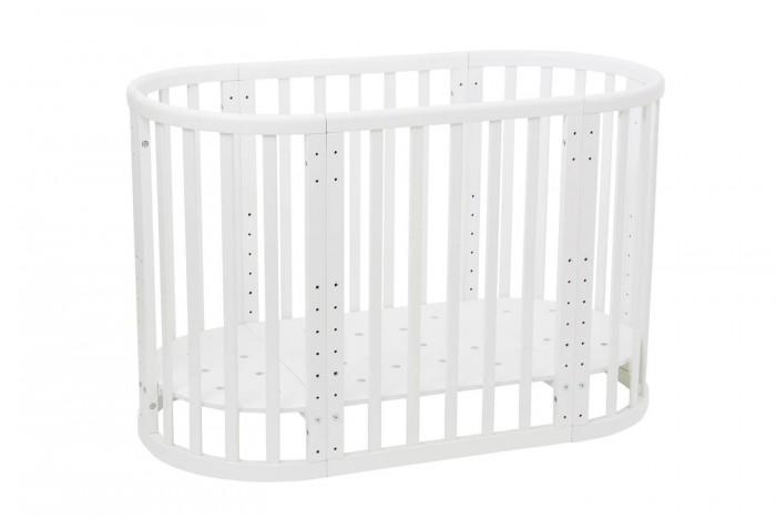 Кроватка-трансформер Polini Kids Simple 911Кроватки-трансформеры<br>Кроватка-трансформер Polini Kids Simple 911 растет вместе с малышом.  Кровать изготовлена из экологически чистого массива березы. Продукция строго соответствует европейским стандартам качества детской мебели EN 716-1-2008+A1-2013.   Немецкие лаки и краски, используемые в производстве, имеют европейские сертификаты качества и абсолютно безопасны для здоровья ребёнка.  Варианты трансформации:  Колыбель (круглая кроватка) размер ложа 60х60 см.. Используется от 0 до 2х месяцев в зависимости от комплекции ребенка Пеленальный столик, с полочкой внизу для размещения гигиенических средств и игрушек Детская кроватка (овальная кровать) с размером ложа 120х60 см.,которое имеет 7 положений по высоте Нижнее положение расстояние от пола до дна -218 мм, а верхнее положение 518мм, с градацией 50 мм Приставная кроватка. Новорожденным малышам особенно важен спокойный сон и чувство защищенности. Педиатры не рекомендуют совместный сон с родителями. Кроватку Polini Simple 910 можно использовать в качестве приставной к родительской кровати, что позволяет малышу быть ближе к маме, облегчая процесс ухода и кормления в течение ночи Подростковая кроватка с размером ложа 180х60 см. Можно установить боковую планку для безопасности ребенка (входит в комплект) Кроватка-диванчик.Съемная боковина кровати позволяет трансформировать ее в удобный диванчик - так ребенок 2-3 лет будет приучаться к самостоятельному сну Кровать-манеж. (необходимо опустить ложе на самое низкое положение и снять колеса) Кроватка превращается в стол. Несколько уровней высоты столешницы и сидения стульев Два кресла. Несколько уровней высоты столешницы и сидения стульев. Размеры:  Размер матраса для колыбели: 60х60 см Размер колыбели: 60х60 см Размер ложа кроватки 120х60 (приставная, простая детская, кровать-манеж),   Габаритные размеры детской кровати(длина х ширина х высота) : 1248х648х860 мм  Габариты кровати подростковой 1848х648х810 мм Размер кровать-див