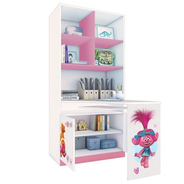 Купить Шкафы, Шкаф Polini kids Стеллаж двухсекционный Fun 1230 Тролли со столом