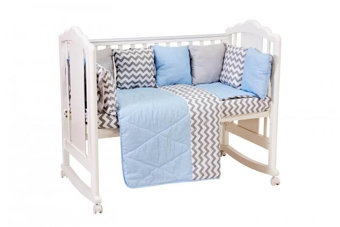 Купить Комплекты в кроватку, Комплект в кроватку Polini kids Зигзаг (5 предметов) 120х60 см