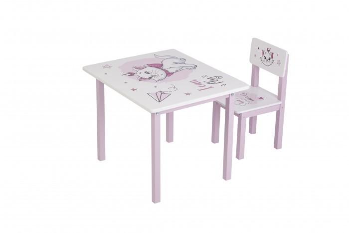 Детские столы и стулья Polini Kids Комплект детской мебели Disney baby 105 S Кошка Мари