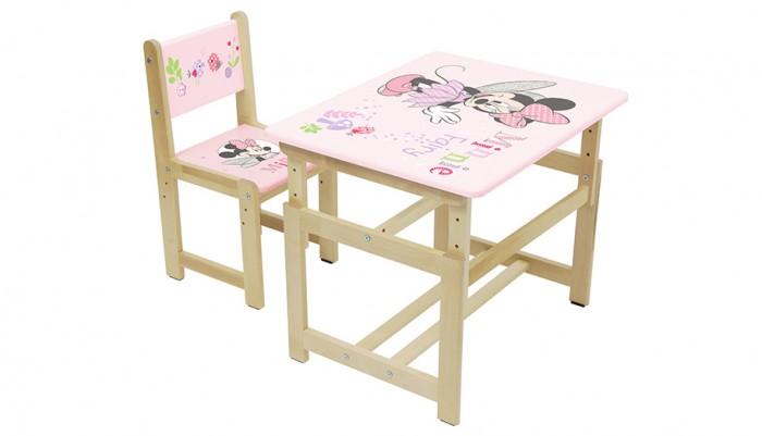 Детские столы и стулья Polini Комплект растущей детской мебели Disney baby 400 SM Минни Маус накидка на спинку сидения siger disney минни маус единорог orgd0104