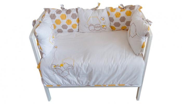 Комплекты в кроватку, Комплект в кроватку Polini Disney baby Медвежонок Винни и его друзья (5 предметов)  - купить со скидкой