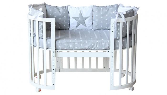 Комплект в кроватку Polini kids Звезды (5 предметов) 120х60 см