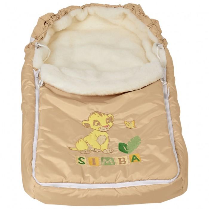 Купить Конверты для новорожденных, Polini Конверт зимний меховой Disney baby Король Лев