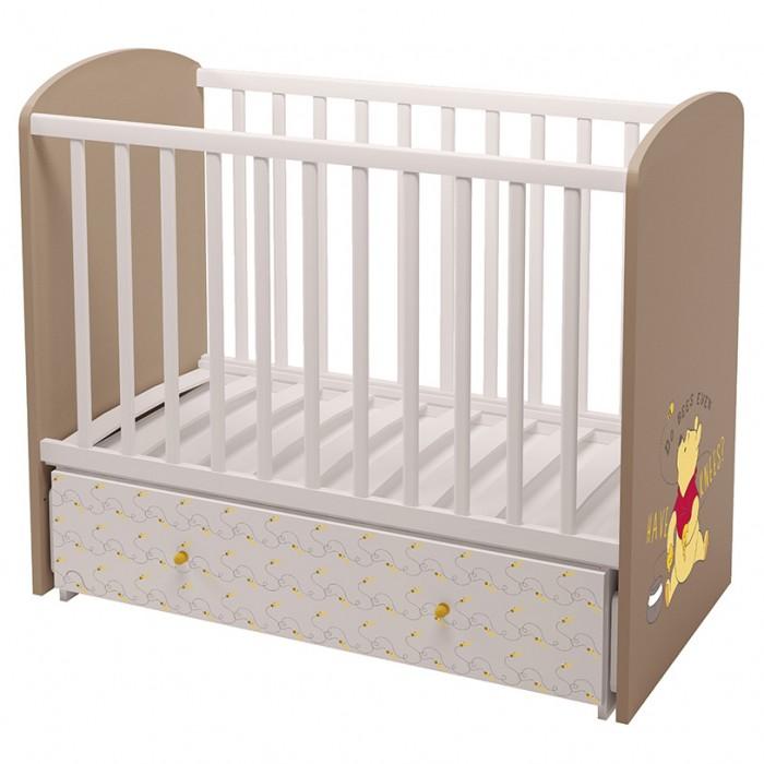 Купить Детские кроватки, Детская кроватка Polini Disney 750 Медвежонок Винни и его друзья маятник 120х60 см
