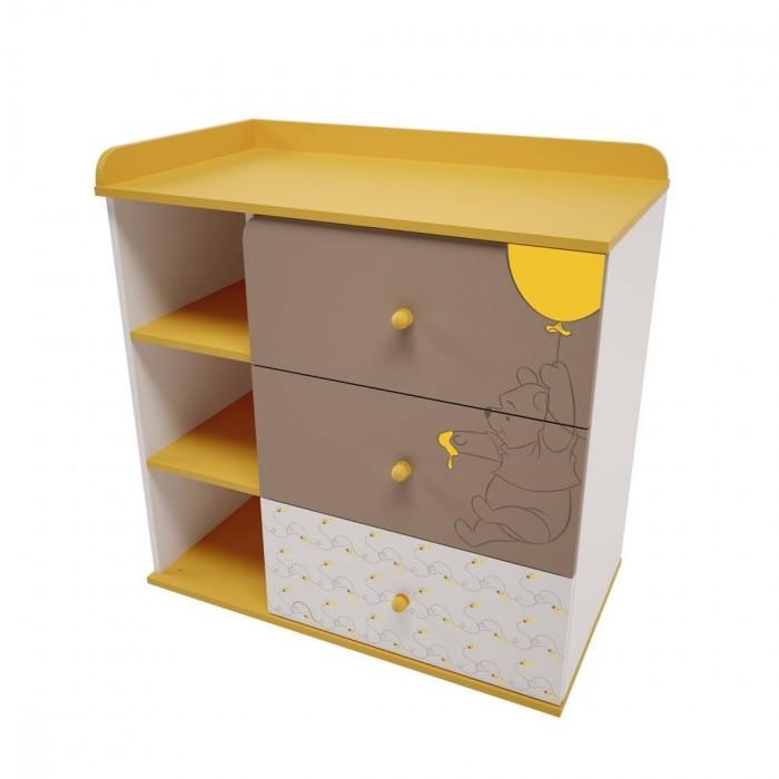 Детская мебель , Комоды Polini Медвежонок Винни и его друзья 5090 пеленальный (3 ящика) арт: 477461 -  Комоды