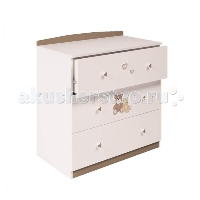Детская мебель , Комоды Polini Плюшевые Мишки 3190 пеленальный (3 ящика) арт: 477411 -  Комоды