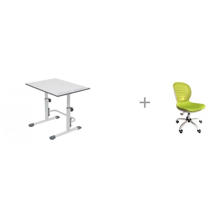 Школьные парты Polini Растущая парта-трансформер Simple М1 с креслом Libao LB-C15