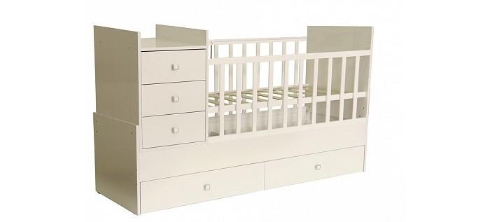 Кроватки-трансформеры Polini Simple 1000 с комодом детские кроватки kitelli kito orsetto качалка
