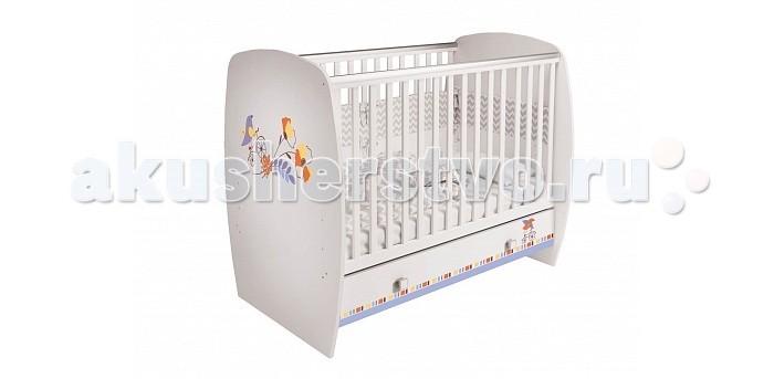 Детская кроватка Polini Simple 710Simple 710Детская кроватка Polini Simple 710 предназначена для новорожденных детей и используется до 3 лет. Кроватка изготовлена в соответствии с европейскими нормами EN 716-2:2008+А1:2013.   Особенности: 1 ящик в основании дно реечное 3 положения высоты ложа силиконовые накладки соответствует европейским стандартам.<br>