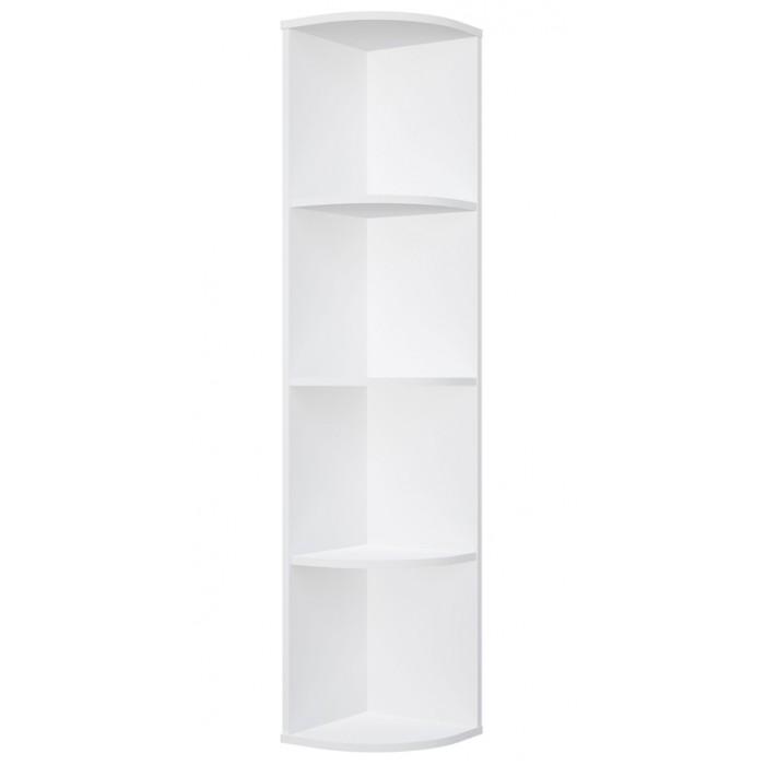 Шкаф Polini Стеллаж Home Smart угловой радиусный 4 секции 142х29х29