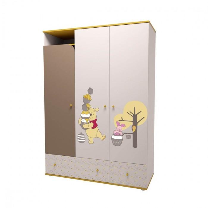 Детская мебель , Шкафы Polini Трехсекционный Disney baby Медвежонок Винни и его друзья арт: 477991 -  Шкафы