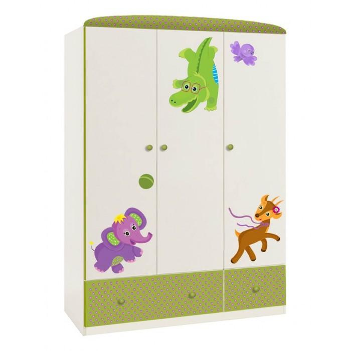 Шкаф Polini трехсекционный kids Basic Elly
