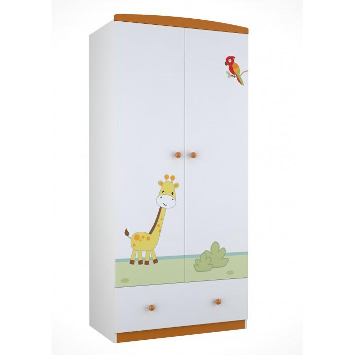 Детская мебель , Шкафы Polini Basic Джунгли двухсекционный арт: 292576 -  Шкафы