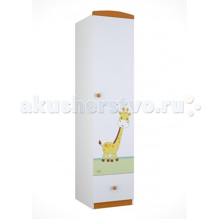 Детская мебель , Шкафы Polini Basic Джунгли пенал арт: 292573 -  Шкафы