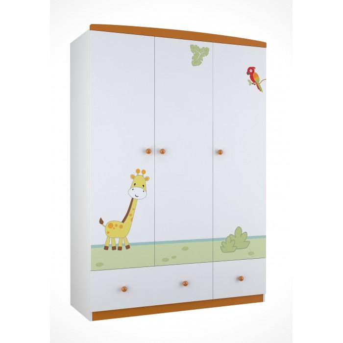 Детская мебель , Шкафы Polini Basic Джунгли трехсекционный арт: 292585 -  Шкафы