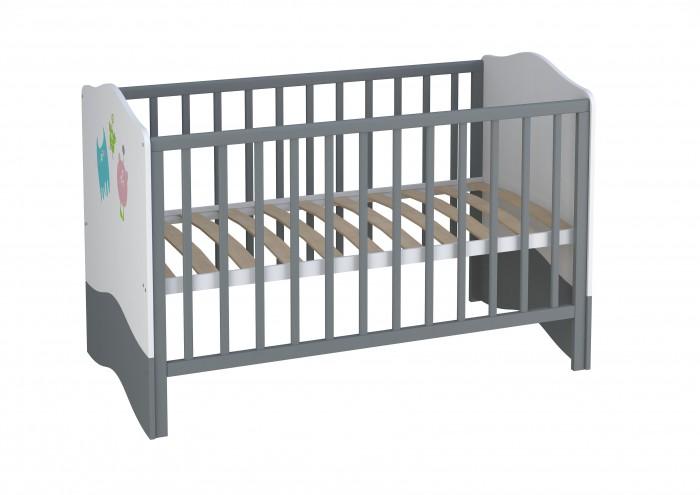 Кроватка-трансформер Polini Basic Монстрики 140х70 см