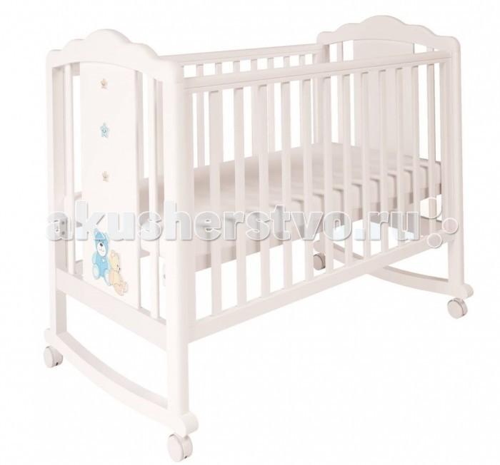 Купить Детские кроватки, Детская кроватка Polini Classic 621 Плюшевые Мишки