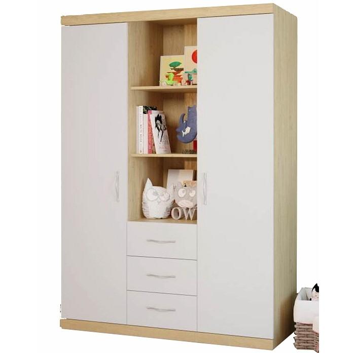 Детская мебель , Шкафы Polini Classic трехсеционный арт: 74409 -  Шкафы