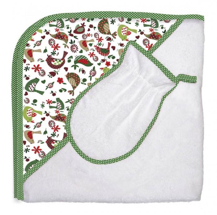 Купание малыша , Полотенца Polini Комплект для купания Кантри 2 в 1 арт: 335130 -  Полотенца