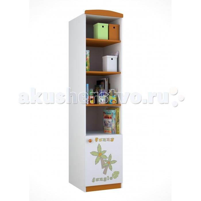 Детская мебель , Шкафы Polini Стеллаж Basic Джунгли односекционный арт: 292564 -  Шкафы